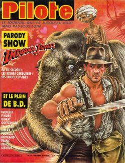 """magazine pilote 124 spécial """"Indiana Jones et le temple maudit"""" 212410"""
