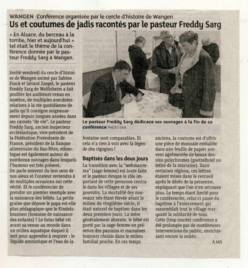 Conférence sur les légendes,traditions et croyances populaires en Alsace par Freddy Sarg le 28 février salle des fêtes de Wangen. Image010