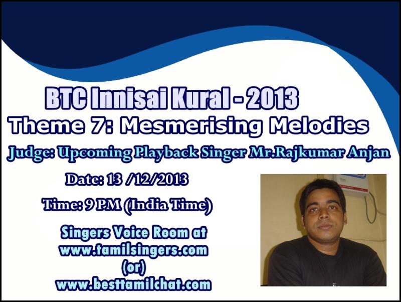 BTC Innisai Kural 2013 - online singing contest 7 Rajkum10