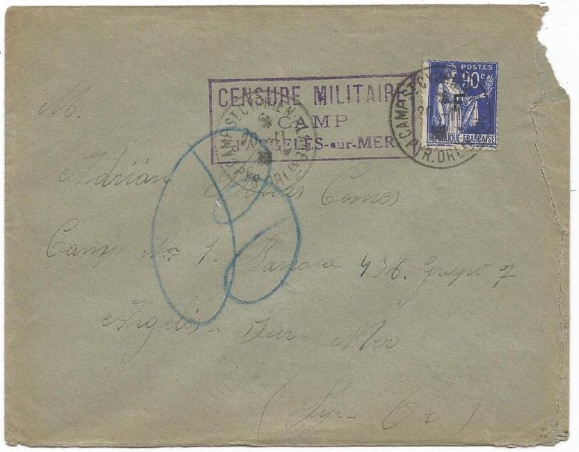 La historia postal de los campos de refugiados españoles en Francia, 1939-1945 1939_c10