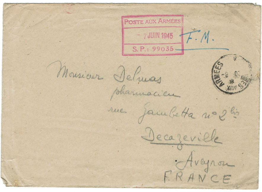 1945 lettre d'Elbing en FM 1945_s13