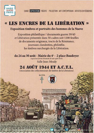 LES ENCRES DE LA LIBERATION - Exposition à la mairie du 4e Arrondissement de Paris 24-30 août 2019  Prospe10