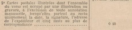 Tarif des cartes postales pendant la Deuxième Guerre mondiale Tarif_10