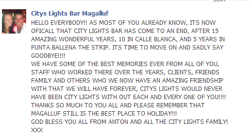 Another bar bites the dust / City Lights City_l10