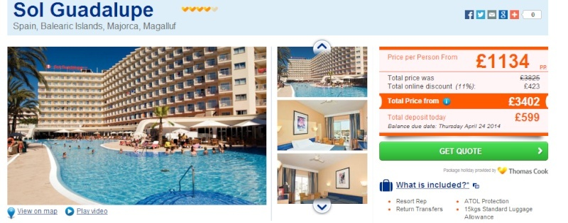 Thomas Cook special offers Gaud110