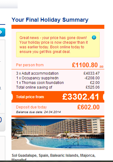 Thomas Cook special offers Gaud210