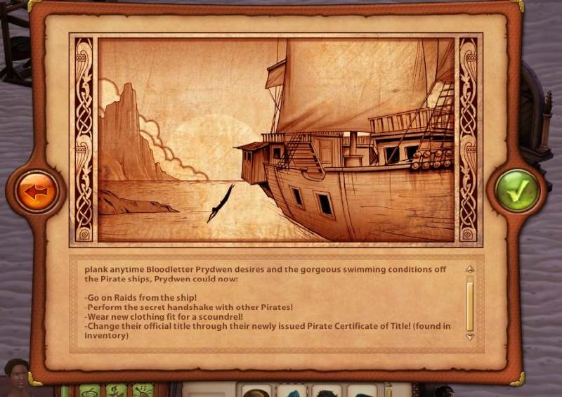 A Goodly Length in Times Past: Glimpses from Sims Medieval Pirate10
