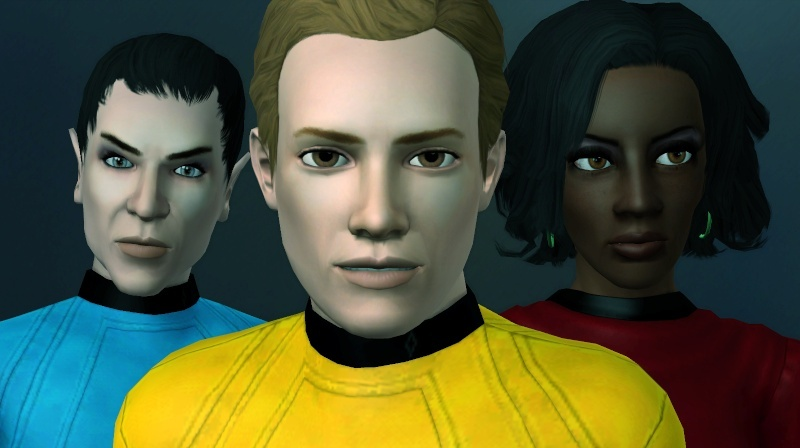 Captain James T Kirk, Lieutenant Uhura and Mr Spock  Screen58
