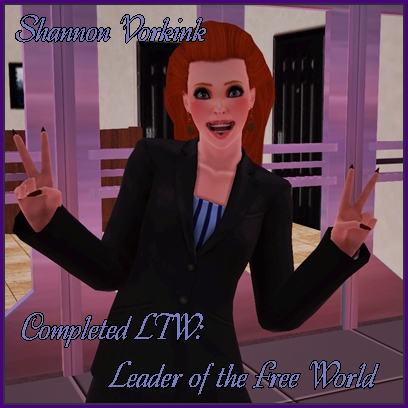 Buttonginger's LTWs & Careers Quest:Become An Astronaut Completed Shanno10