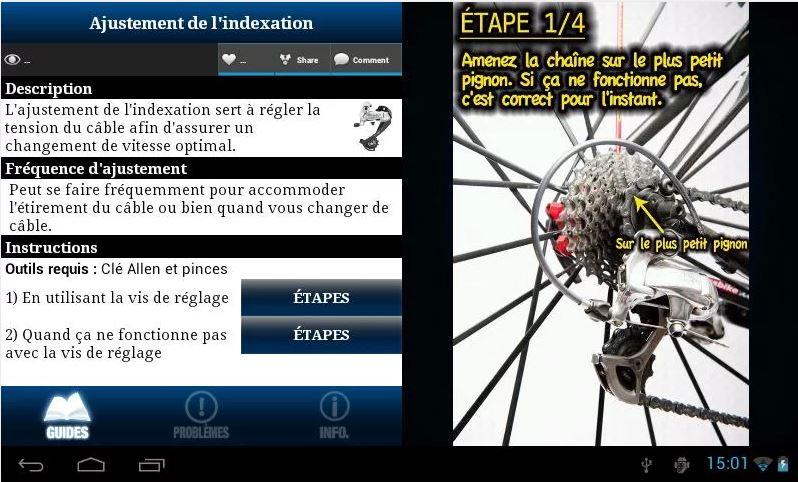 Mécano Vélo - pour Android et Apple Captur14