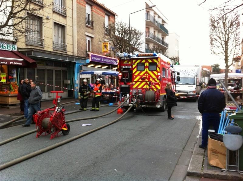 Marché Verdun évacué par les pompiers Pompie12