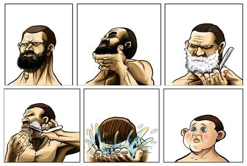 Beard related trauma..... Shave10