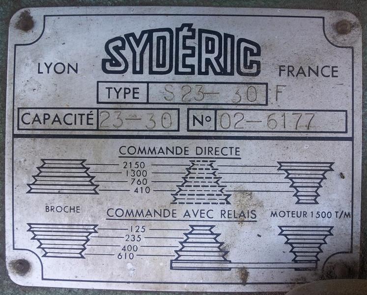 Syderic SF120UB Plaque10