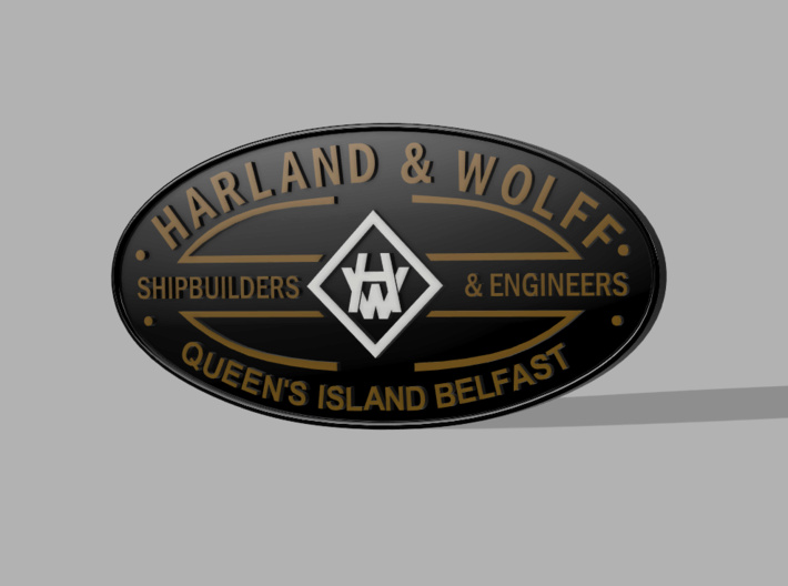 Conception plaque de construction Harland & Wolff, Belfast (Titanic) 710x5212