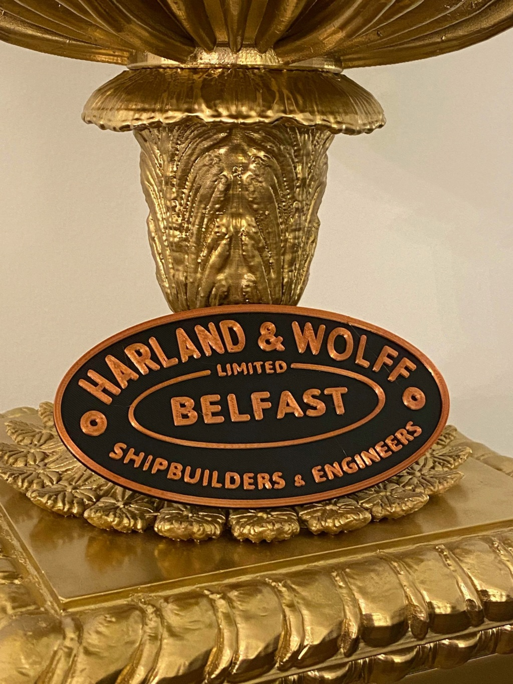 Conception plaque de construction Harland & Wolff, Belfast (Titanic) 74567011