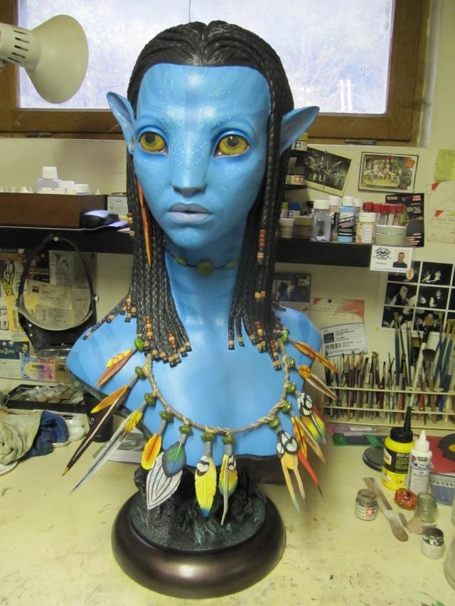 Repaint buste Neytiri sideshow life size . Img_3325