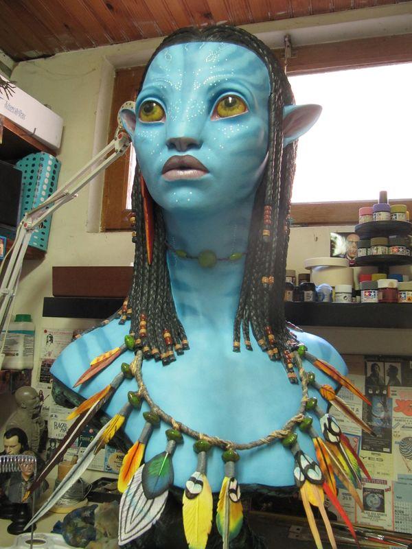 Repaint buste Neytiri sideshow life size . Img_3331