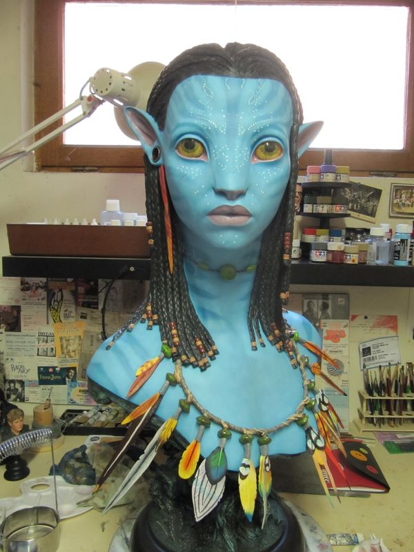 Repaint buste Neytiri sideshow life size . Img_3332