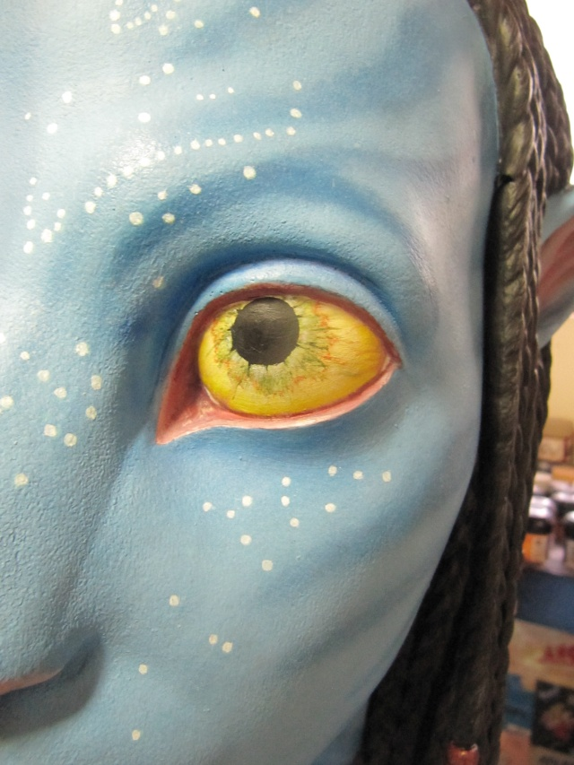 Repaint buste Neytiri sideshow life size . Img_3422