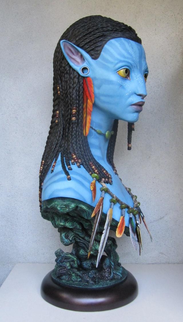 Repaint buste Neytiri sideshow life size . Img_3515