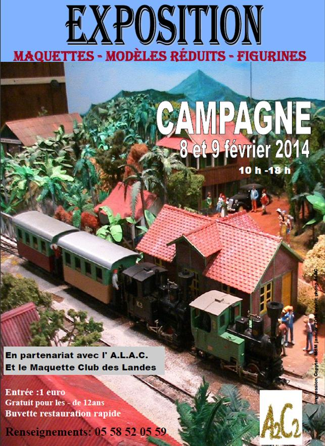Exposition le 8 et 9 février à CAMPAGNE Landes Affich10