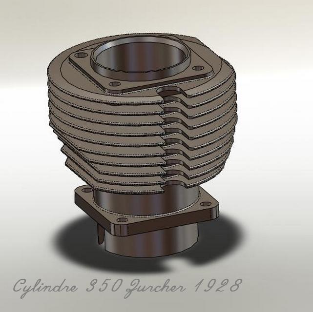 THOMANN 350 à moteur ZURCHER type M 1928. Cylind10