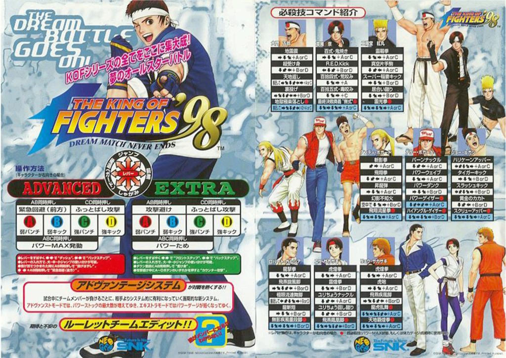 Centralisation des Moves Listes des Vs Fighting Neo Geo Move_l21