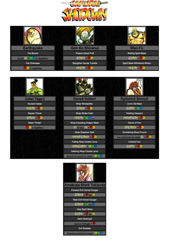 Centralisation des Moves Listes des Vs Fighting Neo Geo Move_l29