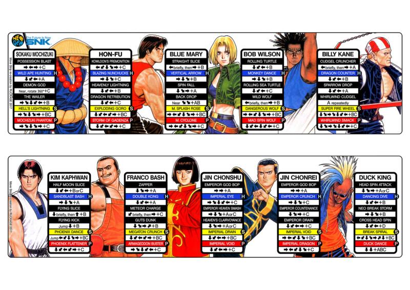 Centralisation des Moves Listes des Vs Fighting Neo Geo Real_b10
