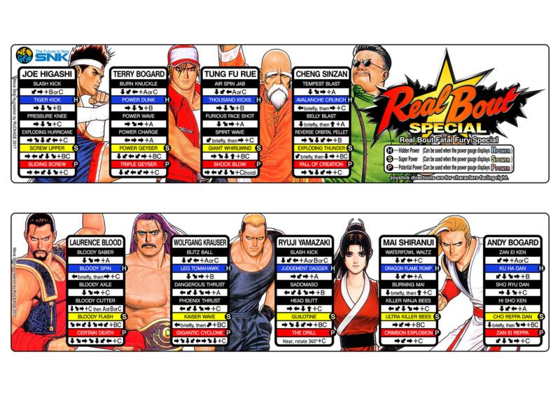 Centralisation des Moves Listes des Vs Fighting Neo Geo Real_b11