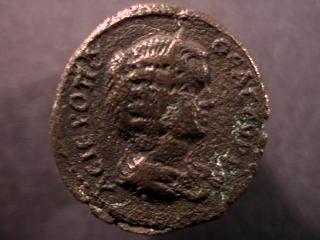 Caracalla et Julia Domna pour Hieropolis et potin alexandrin _hiero12
