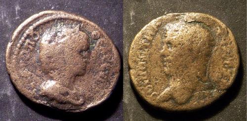 Caracalla et Julia Domna pour Hieropolis et potin alexandrin T2ec1610