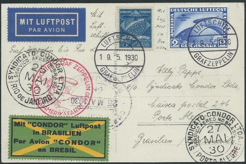 nach - Südamerikafahrt 1930, Post nach Rio de Janeiro 57_ee_11