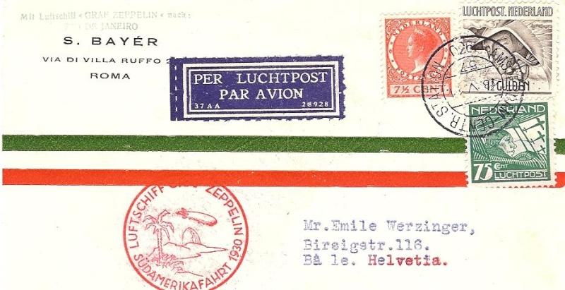 nach - Südamerikafahrt 1930, Post nach Rio de Janeiro 57_m_n10