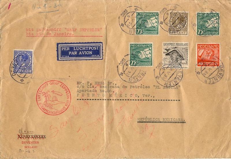 nach - Südamerikafahrt 1930, Post nach Rio de Janeiro 57_m_n11