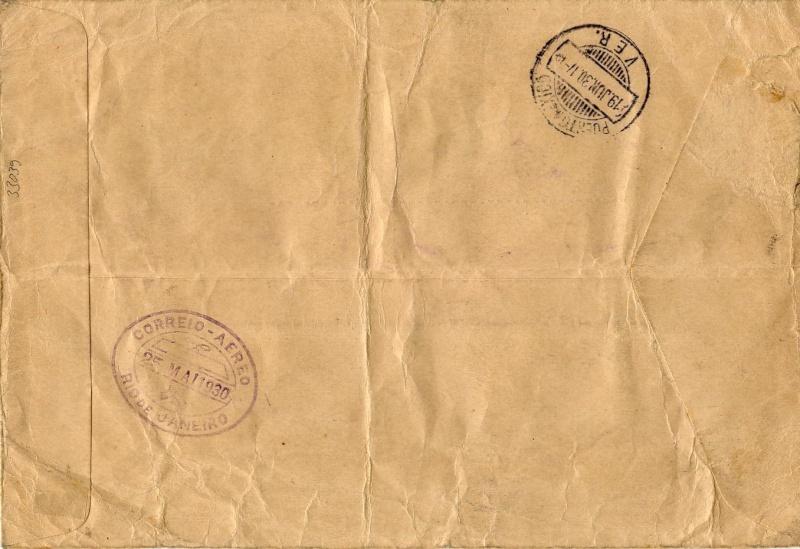 nach - Südamerikafahrt 1930, Post nach Rio de Janeiro 57_m_n12