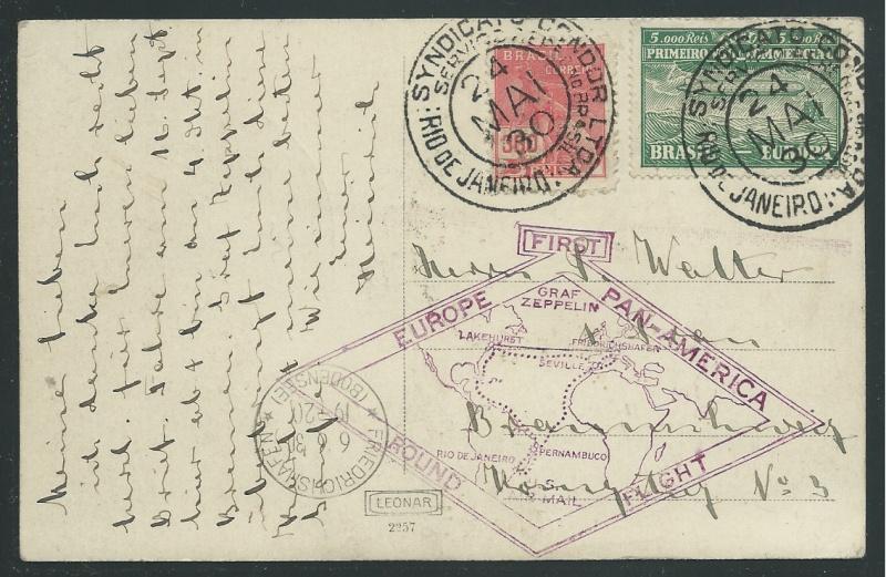 """""""Südamerikapost per Zeppelin"""" 59_a_n10"""
