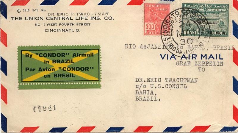 Südamerikafahrt 1930, Post nach (Salvador de) Bahia 59_d_n10