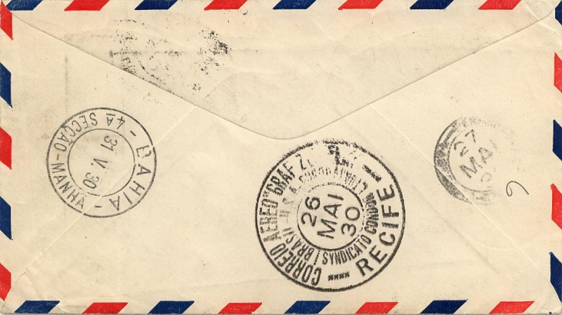 Südamerikafahrt 1930, Post nach (Salvador de) Bahia 59_d_n11