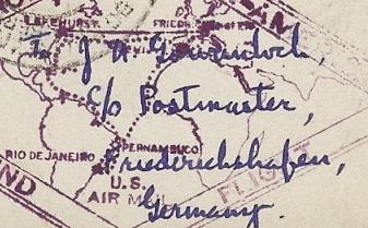 """Südamerikafahrt 1930 (Rundfahrt-) Post nach Friedrichshafen"""" - Seite 4 Adress10"""