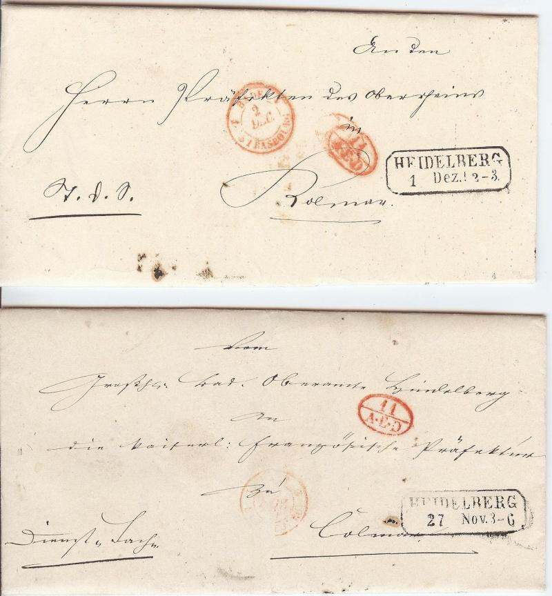 Markenlose Briefe vor 1920 (ohne Feldpost) Dienst10