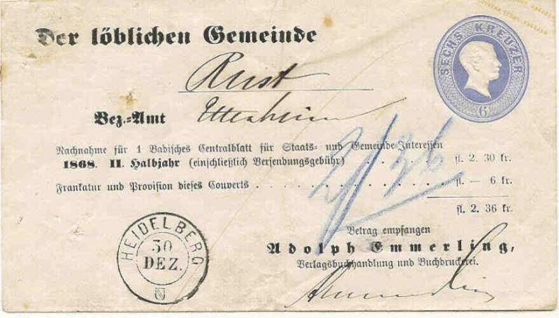"""""""Badische Briefumschläge"""" U10_he10"""