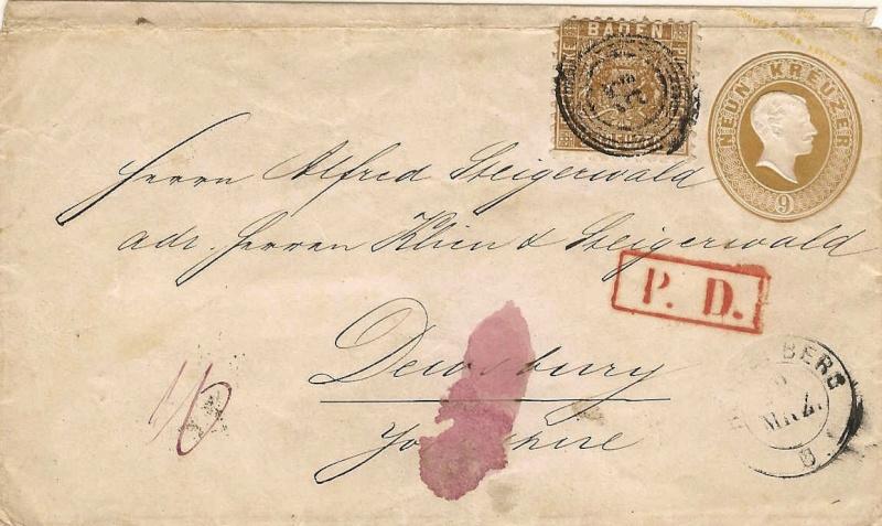 """""""Badische Briefumschläge"""" U1115b10"""