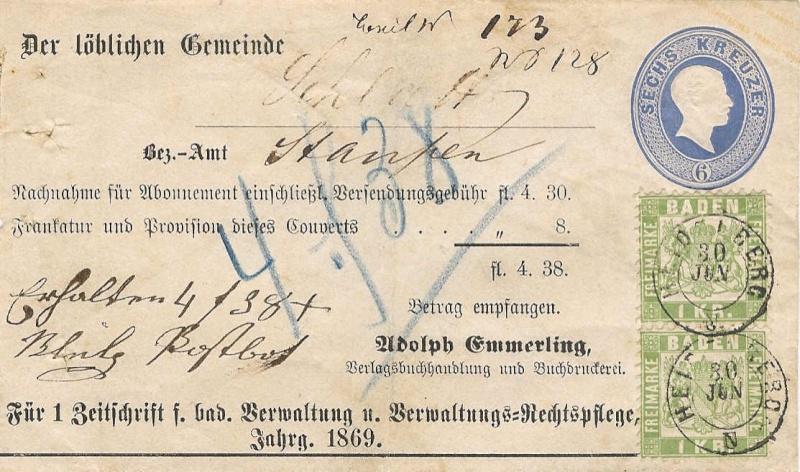 """""""Badische Briefumschläge"""" U1323-11"""