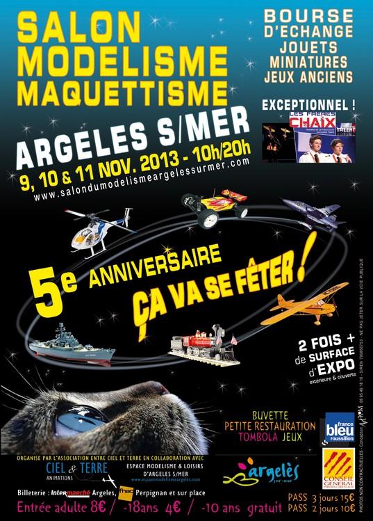 5e salon du modélisme à Argelès sur mer  Affich10