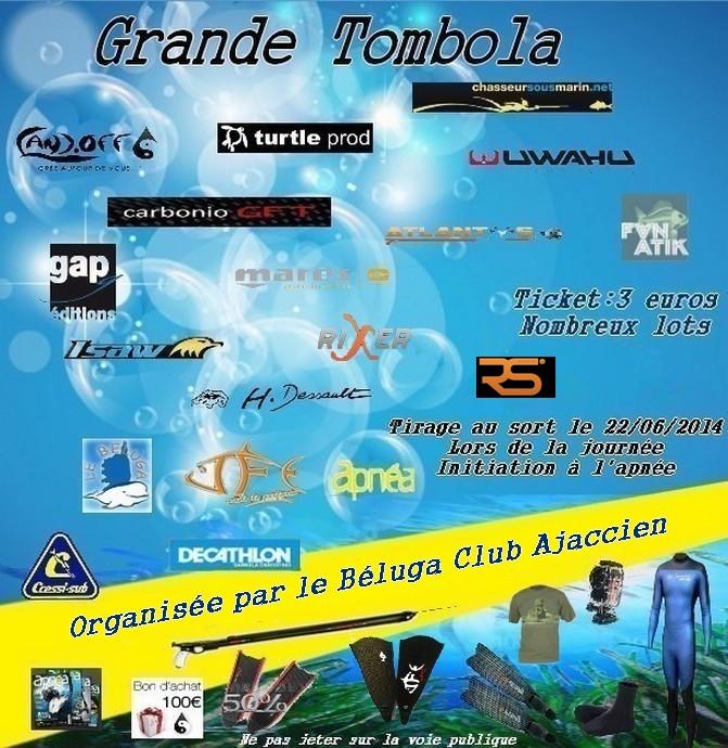 Grande tombola Béluga Club Ajaccien Bulles10