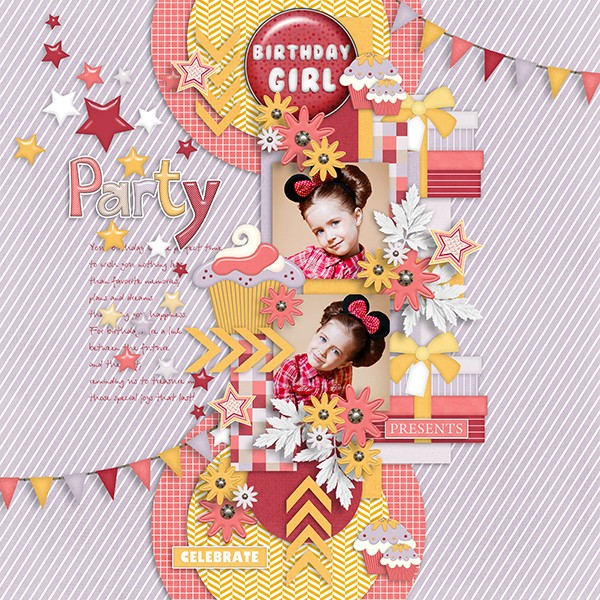 A girl's birthday kit and templates and Welcome to my world templates - May 2. iNSD Dsdddd24