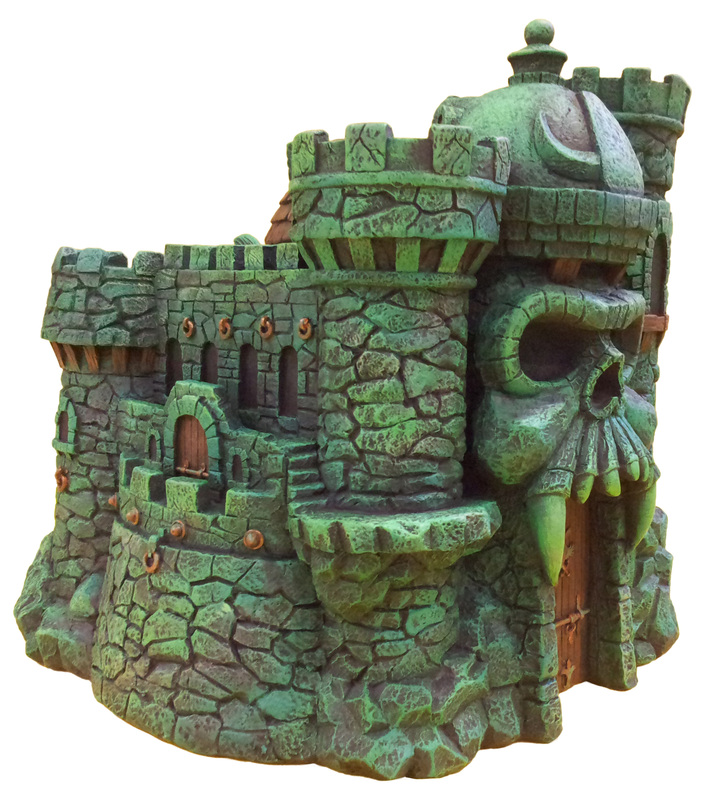"Masters of the Universe Castle Grayskull  and Snake Mountain Polystone Environment ""ICON HEREOS"" 28079810"