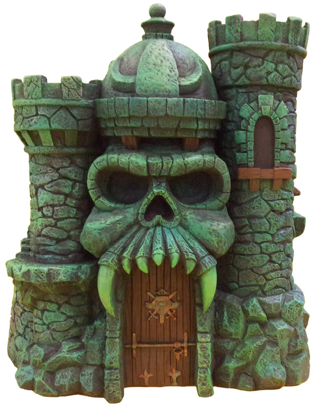 "Masters of the Universe Castle Grayskull  and Snake Mountain Polystone Environment ""ICON HEREOS"" 62265110"