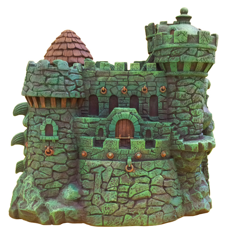 "Masters of the Universe Castle Grayskull  and Snake Mountain Polystone Environment ""ICON HEREOS"" 67318410"